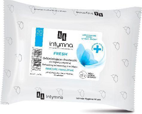 AA Intymna Chusteczki do higieny intymnej Fresh 1op.-20szt - 055476 1