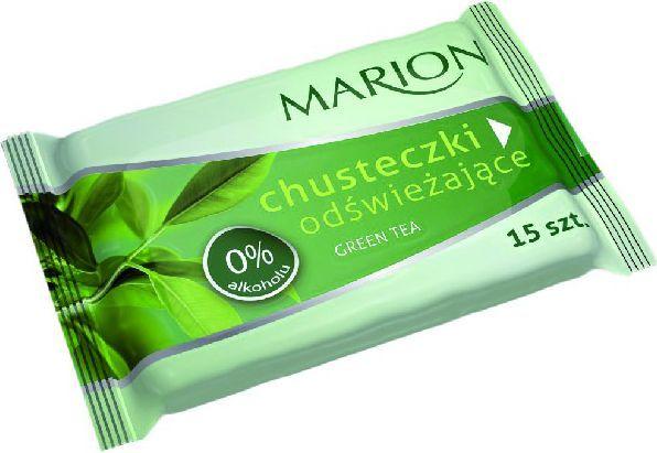 Marion Chusteczki odświeżające Green Tea o zapachu zielonej herbaty 1op-15szt 1