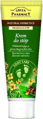 Green Pharmacy Krem do stóp Odświeżający przeciwgrzybiczny Kora dębu, Rokitnik - 810759 1
