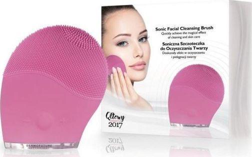 Dermofuture Technology Szczoteczka soniczna do oczyszczania twarzy różowa (631983) 1