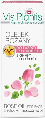 Vis Plantis Olejek Różany do twarzy,szyi i dekoltu 30ml 1