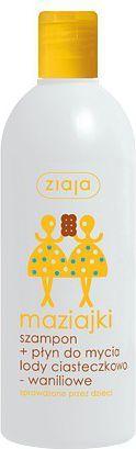 Ziaja Maziajki Szampon + Płyn do mycia lody ciasteczkowo-waniliowe 400ml 1