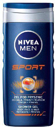 Nivea Bath Care Regenerujący żel pod prysznic Sport for Men 250ml 1