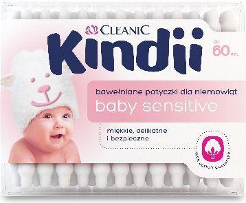 Cleanic Kindii Baby Sensitive Patyczki do uszu 60 szt. 1