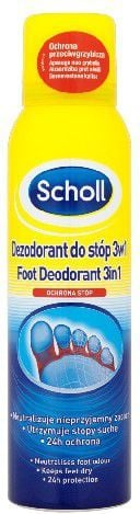 Scholl Pielęgnacja stóp Dezodorant ochronny do stóp 3w1 150ml 1