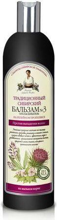Babuszka Agafia Balsam syberyjski tradycyjny Nr 3 przeciw wypadaniu włosów 550 ml 1