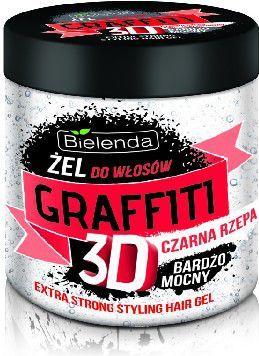 Bielenda Graffiti 3D Żel do układania włosów z czarną rzepą bardzo mocny 250 ml 1