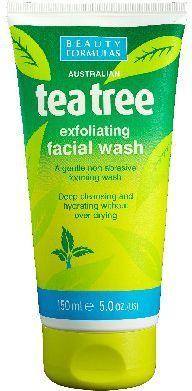 Beauty Formulas Tea Tree Żel złuszczający do mycia twarzy 150ml 1
