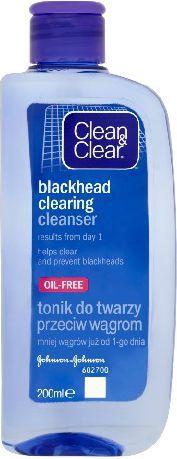 Clean & Clear Oczyszczający tonik do twarzy przeciw wągrom 200ml 1