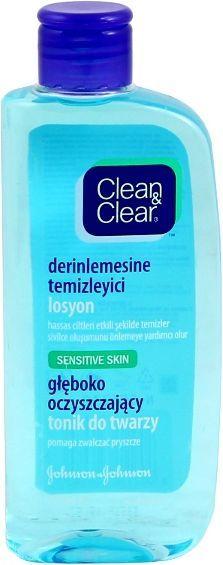 Clean & Clear Głęboko oczyszczający tonik do twarzy do skóry wrażliwej 200ml 1
