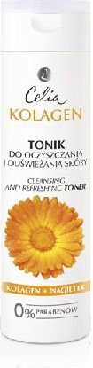 Celia Seria kolagenowa Tonik do oczyszczania i odświeżania skóry z nagietkiem 200 ml 1