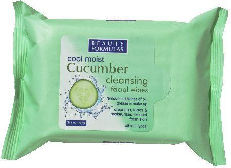 Beauty Formulas Skin Care Chusteczki oczyszczające i do demakijażu z ekstraktem z ogórka 1