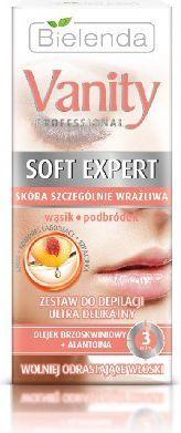 Bielenda Vanity Soft Expert Zestaw do depilacji twarzy ultra delikatny 15ml 1