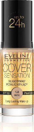 Eveline Podkład Cover Sensation kryjący nr 108 Sand 30ml 1