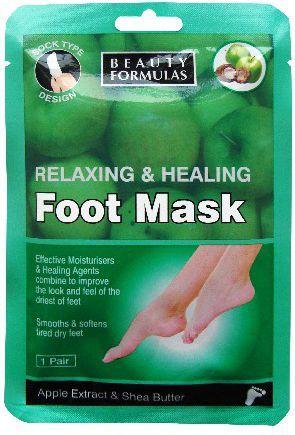 Beauty Formulas Maska na stopy relaksująco odżywcza 1 para 1