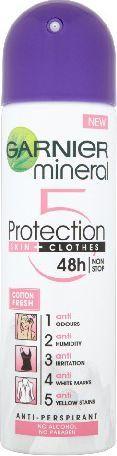 "Garnier Mineral Protection ""5"" Dezodorant spray Cotton Fresh 150ml 1"