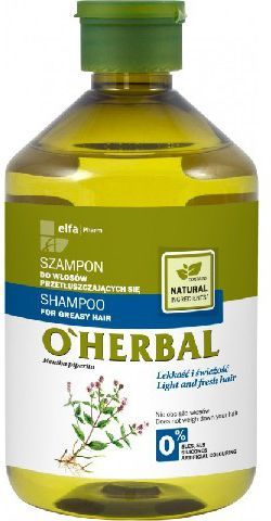 Elfa Pharm O'Herbal Szampon do włosów przetłuszczających mięta 500ml - 810487 1