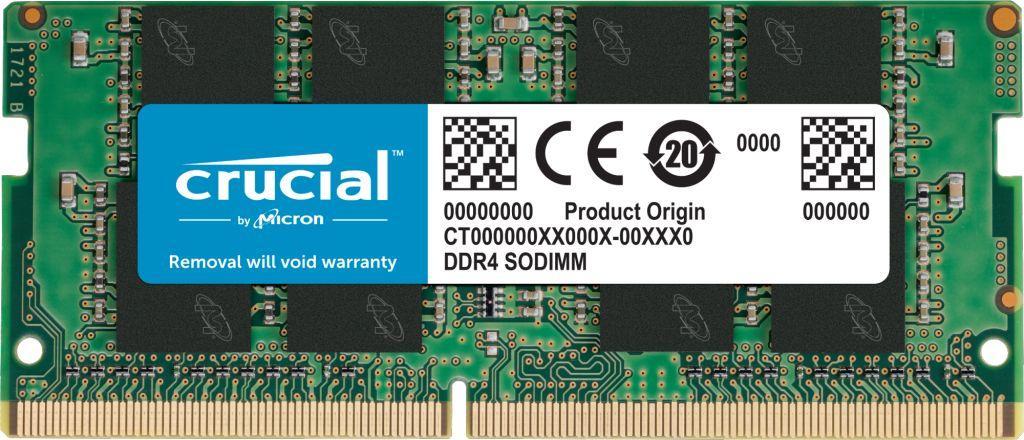 Pamięć do laptopa Crucial SODIMM, DDR4, 4 GB, 2400 MHz, CL17 (CT4G4SFS824A) 1