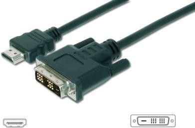 Kabel Assmann HDMI - DVI-D 10m czarny (AK-330300-100-S) 1