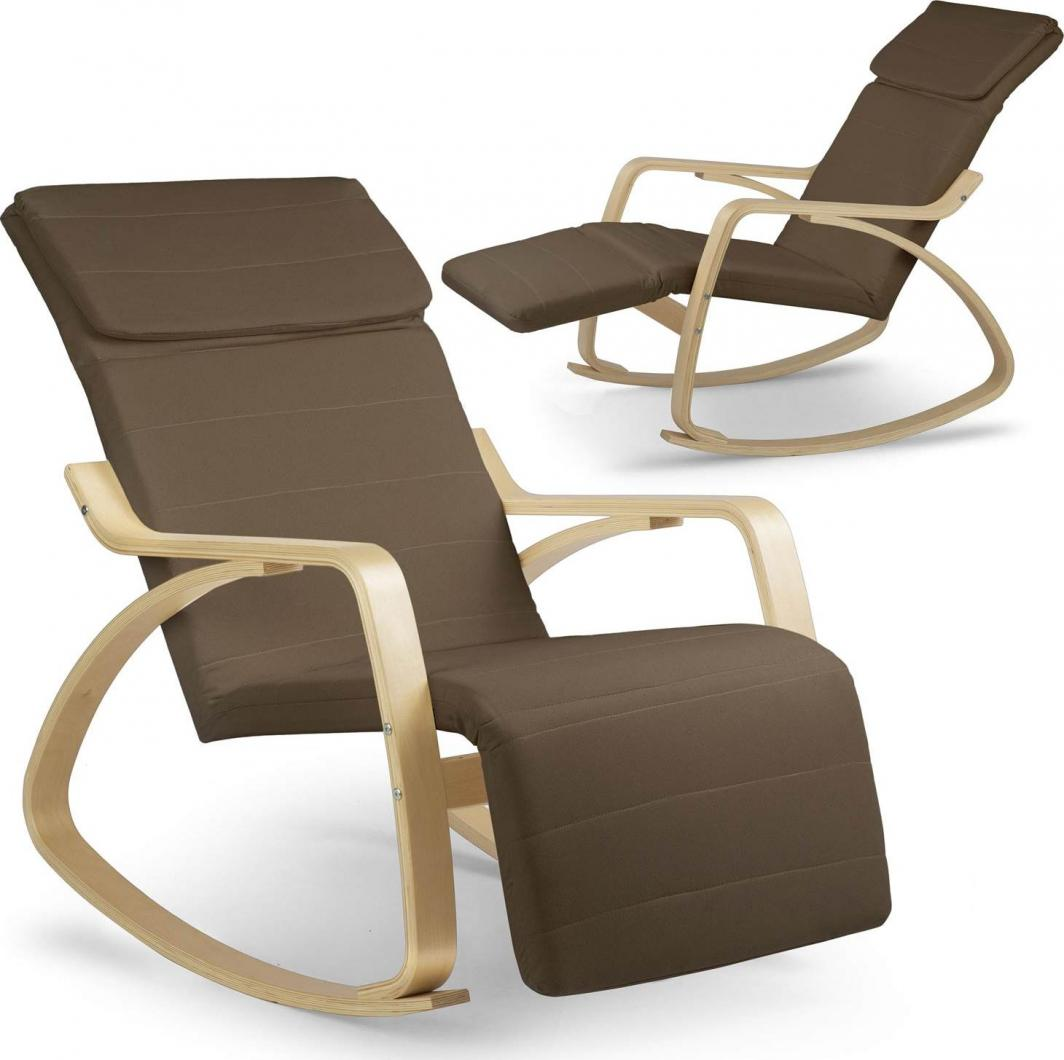 Sofotel Fotel wypoczynkowy bujany Suzi - brązowy 1