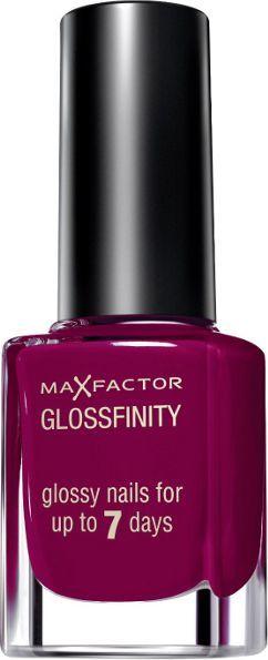 MAX FACTOR Glossfinity Nail Polish 11ml 155 Burgundy Crush 1