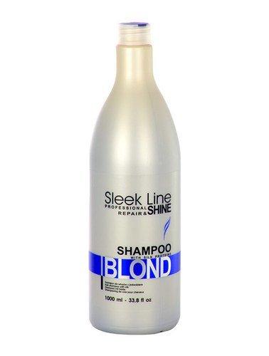 Stapiz Sleek Line Blond Shampoo Szampon z jedwabiem do włosów blond 1000ml 1