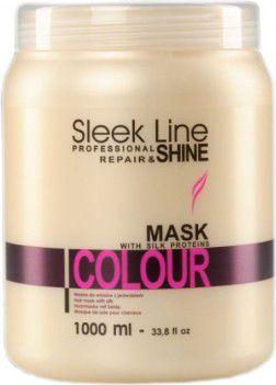 Stapiz Sleek Line Colour Mask Maska z jedwabiem do włosów farbowanych 1000ml 1