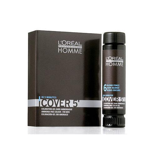 L'Oreal Paris Homme Cover 5 Hair Color Żel koloryzujący do włosów 3x50ml 6 Dark Blond 1