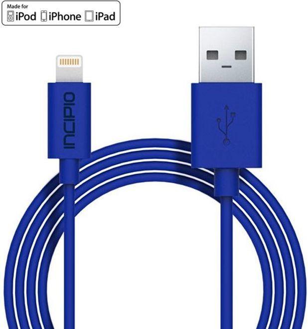 Kabel USB Incipio USB - Lightning, 1m, niebieski (PW-189) 1