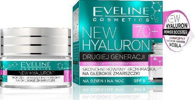 Eveline New Hyaluron Drugiej Generacji 70+ Krem-maska na dzień i noc 50ml 1