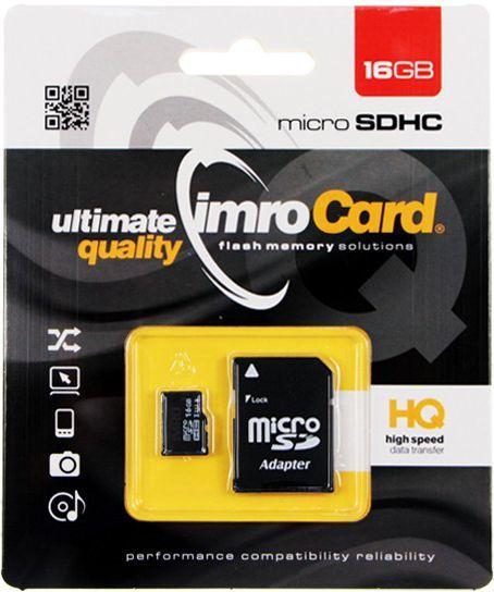 Karta Imro MicroSDHC 16 GB Class 10 UHS-I  (KOM000558) 1