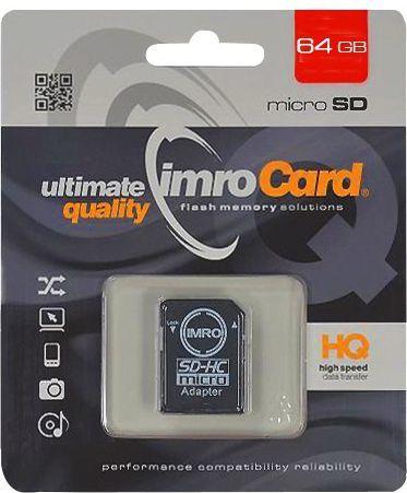 Karta Imro MicroSDHC 64 GB Class 10 UHS-I/U1  (KOM000517) 1