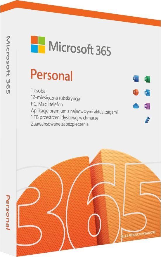 Microsoft M365 Personal PL EuroZone Subscr 1YR Medialess P8 (QQ2-01434) 1
