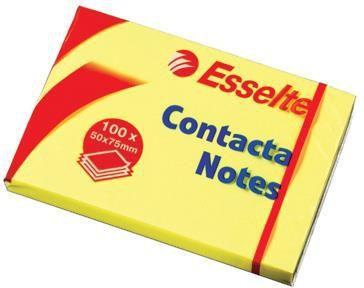 Esselte Bloczki samoprzylepne Contacta 75x75 żółty 1