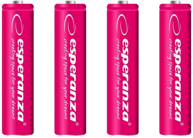 Esperanza Akumulator czerwone AAA / R03 1000mAh 4szt. 1
