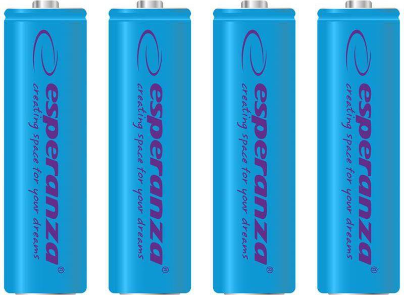 Esperanza Akumulator niebieskie AA / R6 2000mAh 4szt. 1