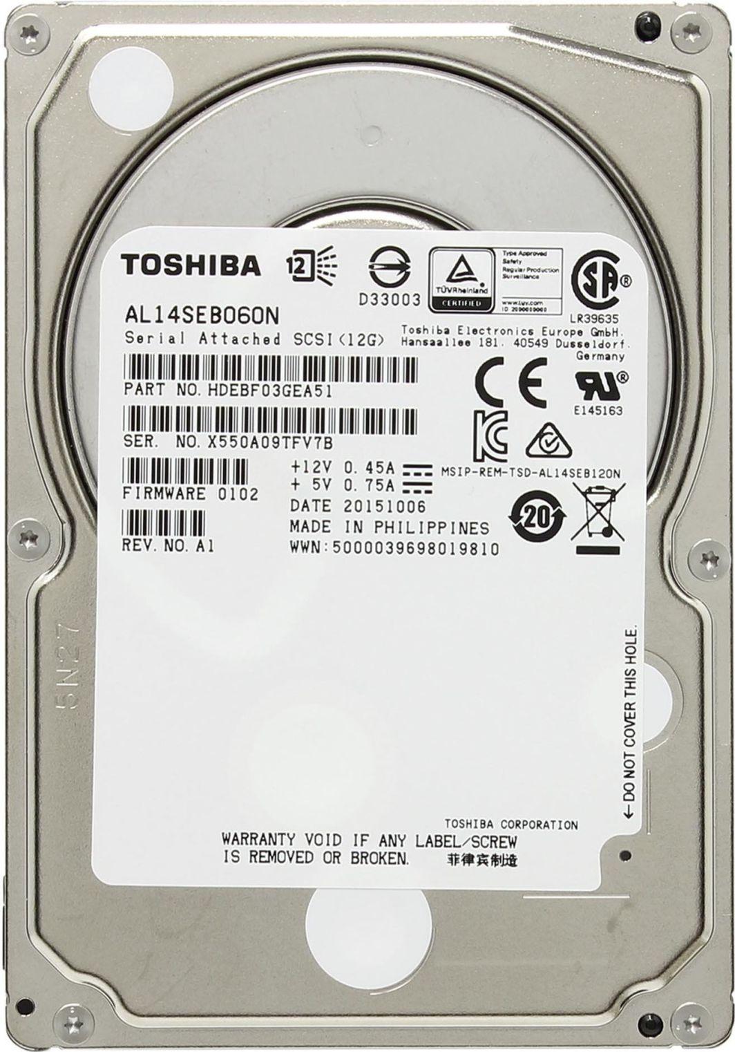 Dysk serwerowy Toshiba 600 GB 2.5'' SAS-3 (12Gb/s)  (AL14SEB060N) 1