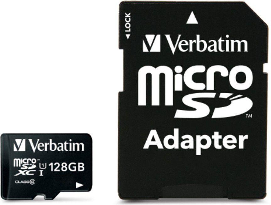 Karta Verbatim MicroSDXC 128 GB Class 10 UHS-I/U1  (44085) 1