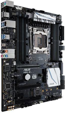Płyta główna Asus X99-E, X99, QuadDDR4-2133, SATAe, SATA3, M.2, USB 3.1, ATX 1