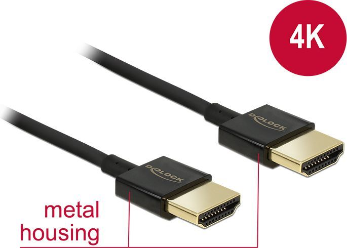 Kabel Delock HDMI - HDMI 0.5m czarny (84786) 1