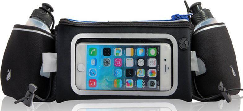 Platinet Pas do biegania z oknem na smartfona i dwiema butelkami na wodę 1