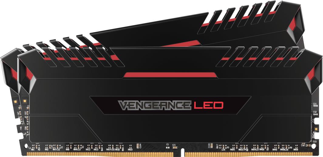 Pamięć Corsair Vengeance LED, DDR4, 16 GB, 3200MHz, CL16 (CMU16GX4M2C3200C16R) 1