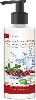 GoCranberry  Aksamitny żel pod prysznic z balsamem nawilżającym 250ml 1