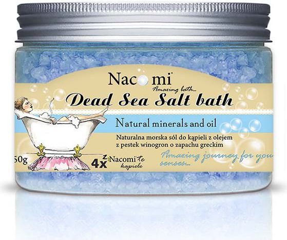 Nacomi Sól do kąpieli z Morza Martwego grecka 450g 1