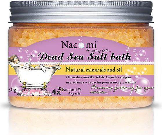 Nacomi Sól z Morza Martwego pomarańcza-wanilia 450g 1