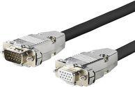 Kabel VivoLink D-Sub (VGA) - D-Sub (VGA) 0.5m czarny (PROVGAFM0.5) 1