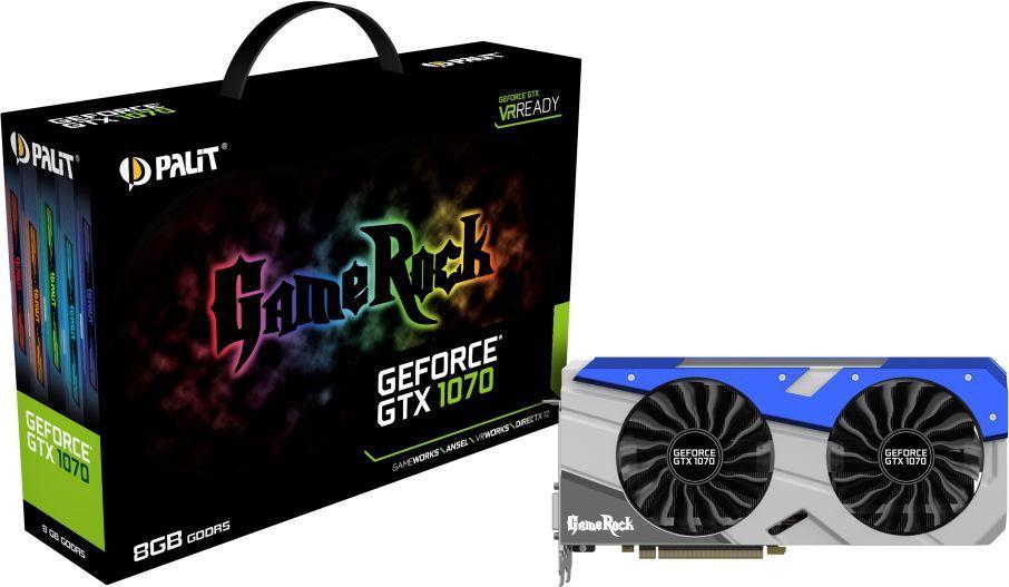 Karta graficzna Palit GeForce GTX 1070 GameRock 8GB GDDR5 (256 bit) 3x DP, HDMI, DVI (NE51070T15P2G) 1