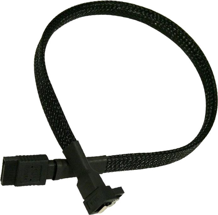 Nanoxia SATA/SATA, kątowy, 30cm, czarny (NXS6G30) 1
