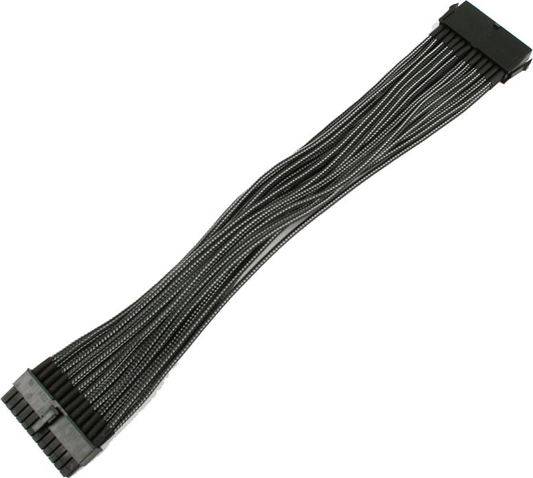 Nanoxia 24-Pin ATX-przedłużacz 30cm, carbon (NX24V3EC) 1