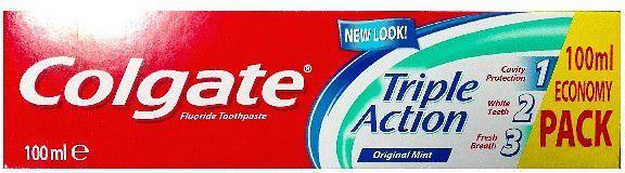Colgate Pasta do zębów Triple Action Original Mint 100ml - 3205439 1